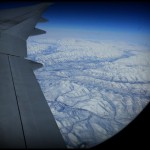 Flying over Arctic