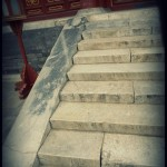 Stairs up to one of the buildings around the Temple of Heaven